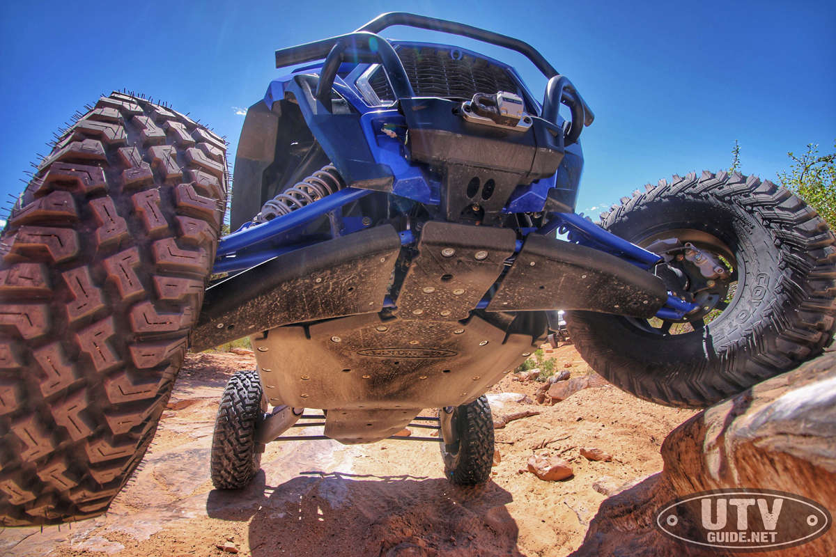 ATV//UTV Loaded Shackle Mount With Titanium Pin /& Rubber Guard Factor55 ProLink XTV - Blue 6,000 Lbs